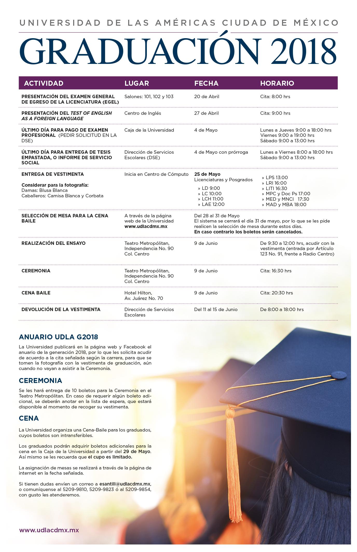 Calendario Academico Udla 2019.Udla Cdmx Calendario Academico